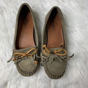 Lucky Brand Aunee Taupe Suede Moccasins Size 9